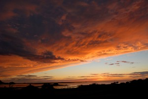 Solnedgang over Flem