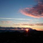 Solnedgang over Løvsøya