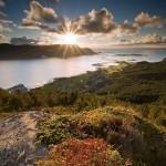 Mot Ulla og solnedgang