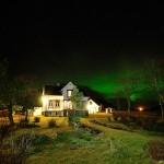 Hus og nordlys
