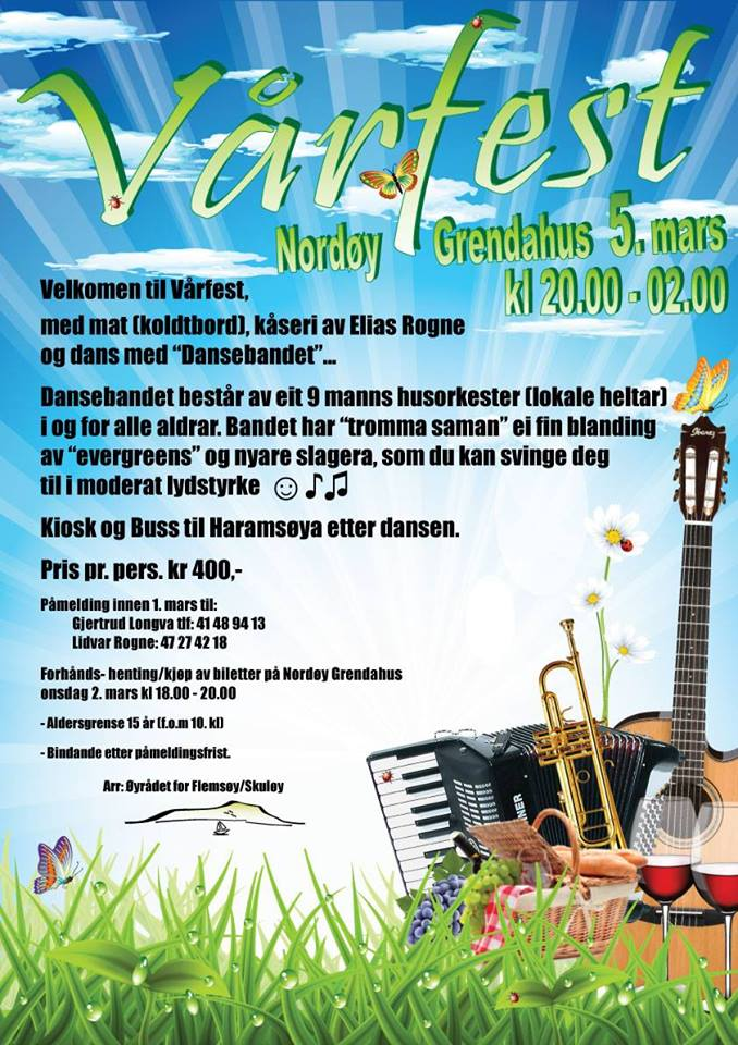 Vårfest-plakat
