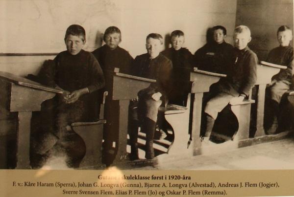 Guteklasse på tidleg 1920-tal