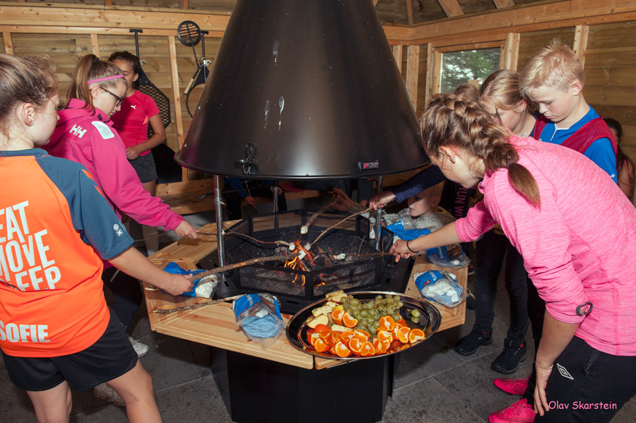 Grilling av marshmallows