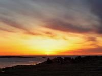 Solnedgang over Eiane på Flem
